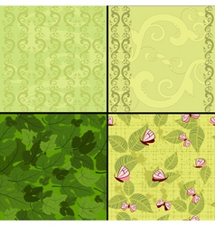 seamless nature vector image vector image
