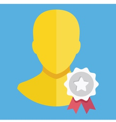 Account Award Icon vector image vector image