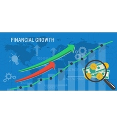 Banner concept of financial growth vector image vector image