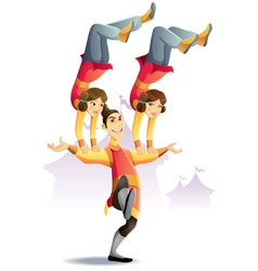 circus acrobatic vector image vector image