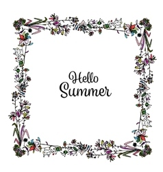 Floral frame sketch for your design vector image vector image