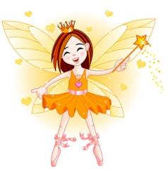Little orange fairy vector image