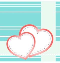 postcard hearts vector image vector image