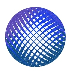 Blue abstract circle with lattice vector image
