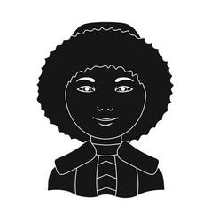 eskimohuman race single icon in black style vector image vector image