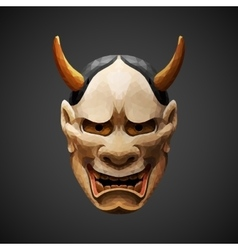 low poly mask Noh theater Hannya Side light vector image vector image