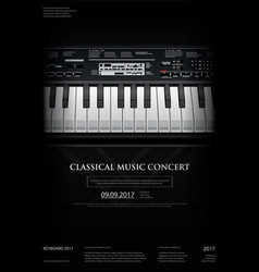 music grand piano poster vector image vector image