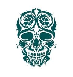Ornamental art of a skull vector image vector image