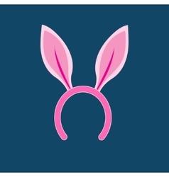 Pink rabbit ears head vector image vector image