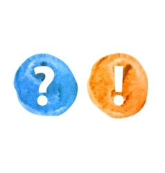 Question and Exclamation Mark Set vector image vector image