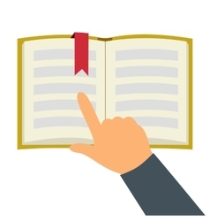 Reading book flat symbol vector