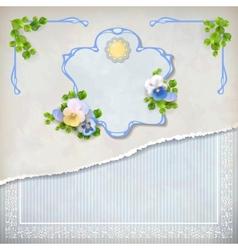Shabby chic vintage wedding floral invitation vector image vector image