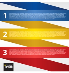 Abstract folded colorful ribbon EPS10 vector image vector image