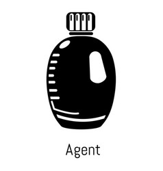 agent bottle icon simple black style vector image