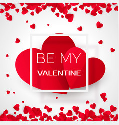 amour valentine card with message - by my vector image