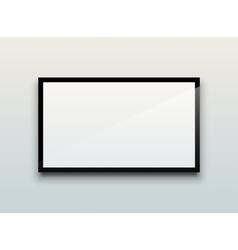 Blank tv screen vector image