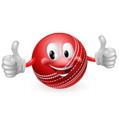 cricket ball man vector image