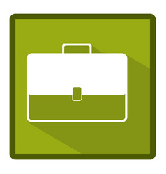 emblem bag case icon vector image vector image