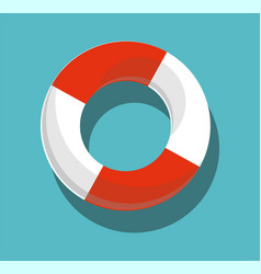 lifebuoy isolated on blue background vector image