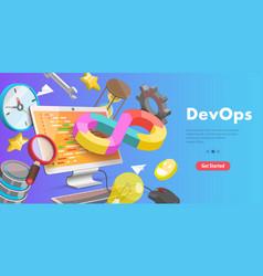 3d conceptual devops vector