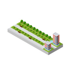 A modern city vector