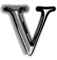 abstract font letter V vector image