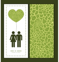 abstract green natural texture couple in vector image