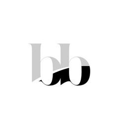 Alphabet letter bb b b black and white logo icon vector