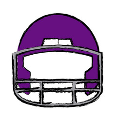 american football helmet equipment protection vector image