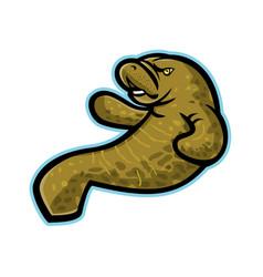 Angry manatee mascot vector