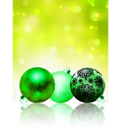 Beautiful green happy Christmas card EPS 8 vector