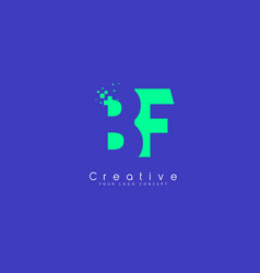 Bf letter logo design with negative space concept vector