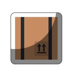 Box carton packing icon vector