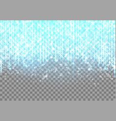 bright blue neon glare vector image