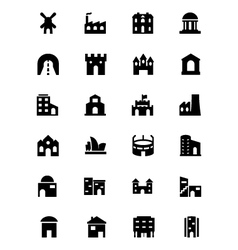 Building Icons 4 vector