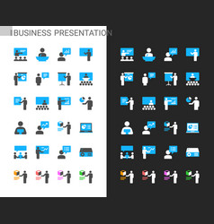 business presentation icons vector image