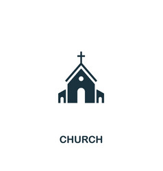church icon creative element design from easter vector image