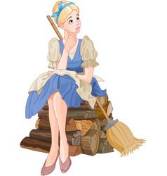 Cinderella dreaming vector