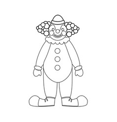 circus clown vector image