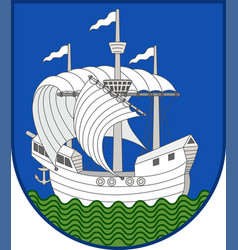 Coat of arms of nordfyn in southern denmark region vector