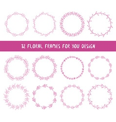collection floral frames vector image