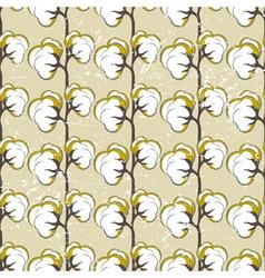 Cotton seamless vector