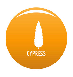Cypress tree icon orange vector