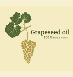 Design of a label with a bunch of grapes vector