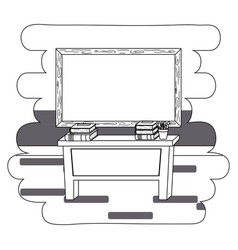 Desk and school supplies design vector