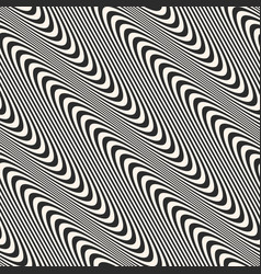 diagonal curved wavy lines seamless pattern vector image