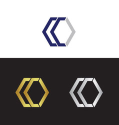 Double letter C vector