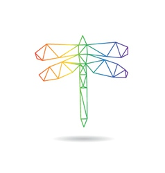 Dragonfly abstract isolated vector