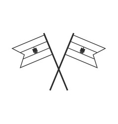 Egypt flag icon in black outline flat design vector