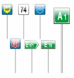 European road signs vector image